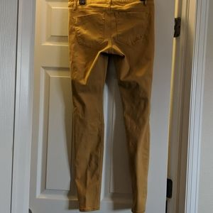 Express Jeans - Mustard colored skinny jeans